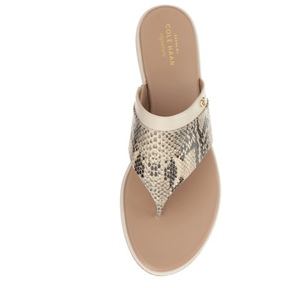 f5bbc018805 Cole Haan Shoes - Cole Haan Cecily Grand Thong Wedge Sandal